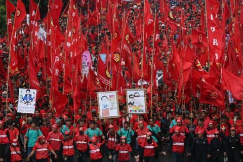 Antisipasi Demo Buruh, Jalan di Depan DPR Ditutup