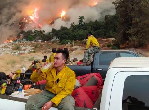 WNI Jadi Relawan Pemadam Kebakaran Hutan California