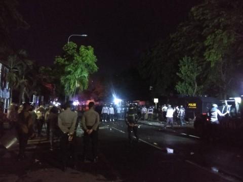 Massa Aksi di Serang Bentrok dengan Polisi
