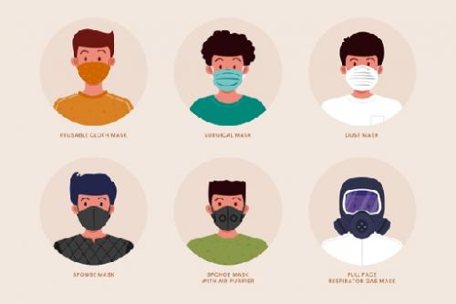 Centers for Disease Control and Prevention (CDC) mengajak semua orang untuk menggunakan masker atau penutup wajah ketika berada di ruang publik. (Foto: Ilustrasi. Dok. Freepik.com)