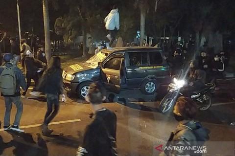 Perusakan Mobil Polisi Buntut Aksi di Bandung Diselidiki