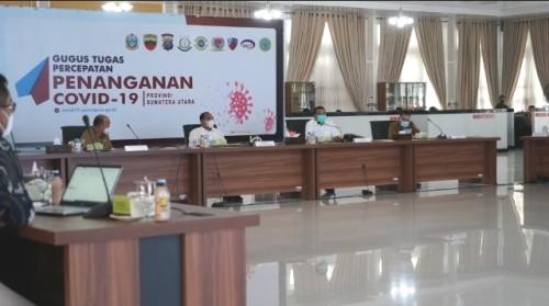 Provinsi Sumut berkoordinasi dengan Tim Task Force Kemenkes RI untuk percepatan penanganan covid-19. (Foto: Dok. Kemenkes RI)