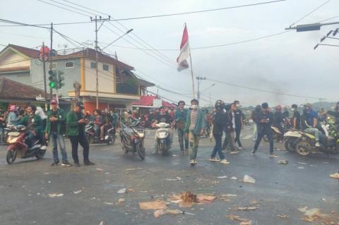 Polisi Pastikan Tak Ada Korban Jiwa Saat Demo Ricuh di Lampung