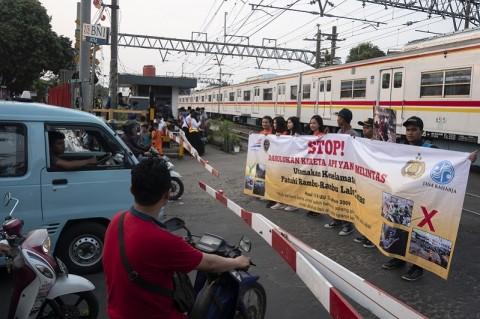 198 Kecelakaan di Perlintasan Sebidang KA Terjadi dalam 9 Bulan Terakhir
