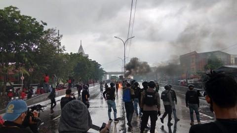 Aksi di Makassar Ricuh, Satu Mahasiswa Ditangkap