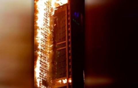Gedung Apartemen 33 Lantai di Korsel Habis Terbakar