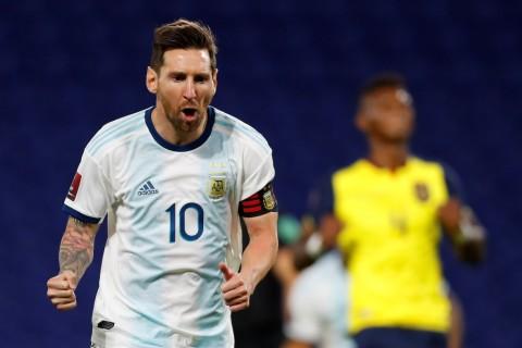 Argentina vs Ekuador: Gol Lionel Messi Antar Albiceleste Raih Kemenangan