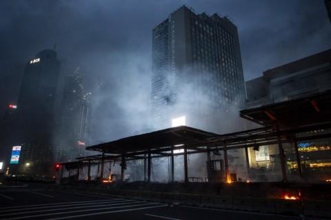 20 TransJakarta Bus Stops Damaged during Protests in Jakarta
