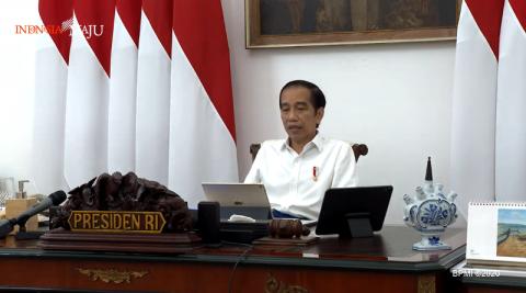 Jokowi-Ma'ruf Gelar Rapat Membahas UU Ciptaker