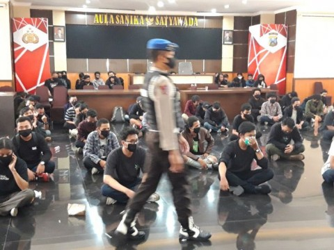 Polres Malang Kota Proses Hukum 129 Pengunjukrasa