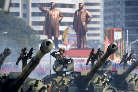 Korut Gelar Parade Militer Peringati 75 Tahun Berdirinya Partai Buruh