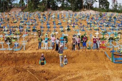 Kematian Pasien Covid-19 di Brasil Lampaui 150 Ribu