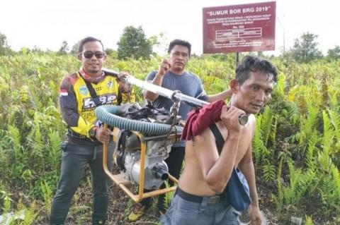 Relawan Kotawaringin Timur Cegah Kebakaran Lahan Gambut