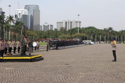 Antisipasi Demo Penolakan UU Ciptaker Susulan, TNI-Polri Apel Bersama