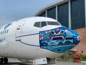 Garuda Luncurkan Desain Baru Pesawat Bermasker Karya Anak Negeri