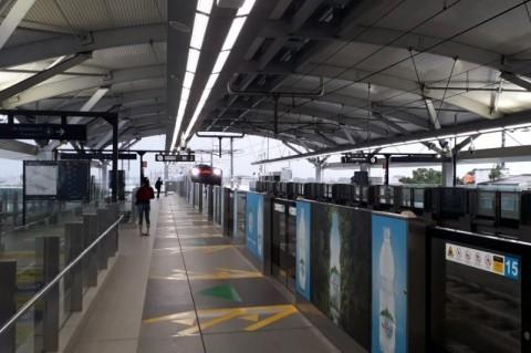 Stasiun MRT Rusak Imbas Demo UU Ciptaker Rampung Diperbaiki