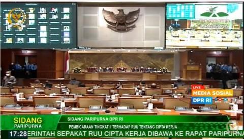 Pimpinan DPR: Mik Rapat Paripurna Mati Otomatis Dalam 5 Menit