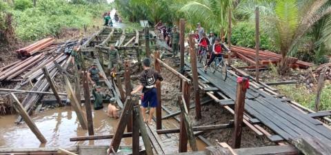TMMD di Kotawaringin Timur Kebut Perbaikan 3 Jembatan