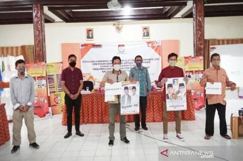KPU Barito Selatan Serahkan APK Kepada Tim Peserta Pilkada 2020