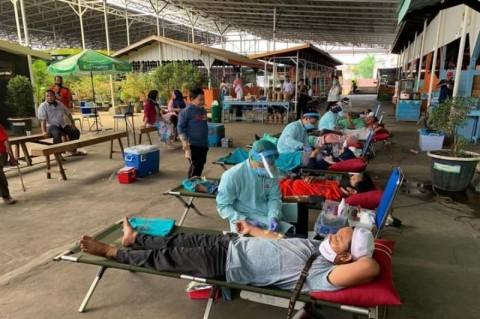Warga Pasar Banjarmasin Donorkan 103 Kantong Darah untuk PMI