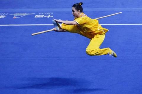 Rajawali Sakti Kawinkan Emas Nomor Nan Gun Kejuaraan Wushu Virtual