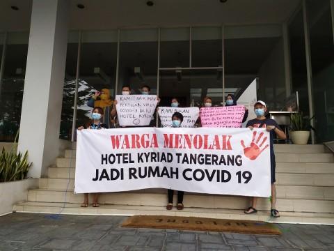 Warga Tangerang Tolak Hotel Jadi Lokasi Isolasi OTG