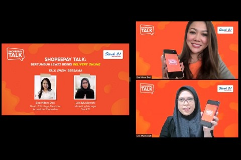 ShopeePay Bahas Pertumbuhan Bisnis via Delivery Online