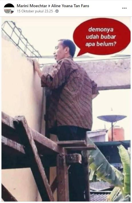 [Cek Fakta] Foto Jokowi Tengok Pedemo dari Balik Tembok? Ini Faktanya