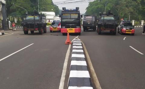 Jalur Lingkar Istana Bogor Ditutup Antisipasi Demo