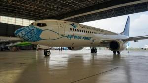 Bermotif Batik Parang, Masker Pesawat Garuda Punya Makna Tidak Menyerah