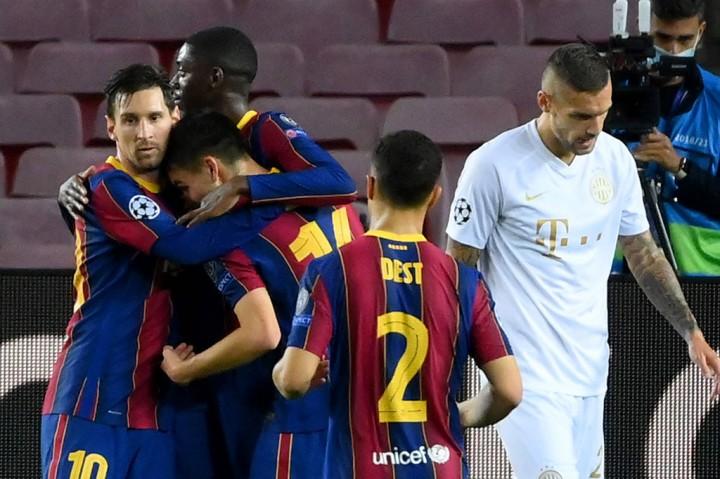 Barcelona vs Ferencvaros: Messi Cs Menang Telak 5-1