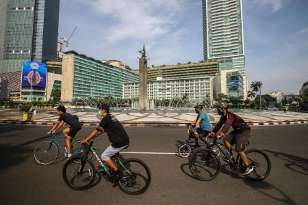 Pesepeda Jadi Korban Jambret di Bundaran HI