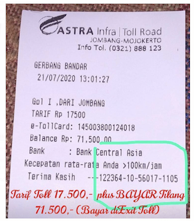 [Cek Fakta] Beredar Foto Struk Bayar Tol Rp17.500 dan Tilang Rp71.500? Ini Faktanya