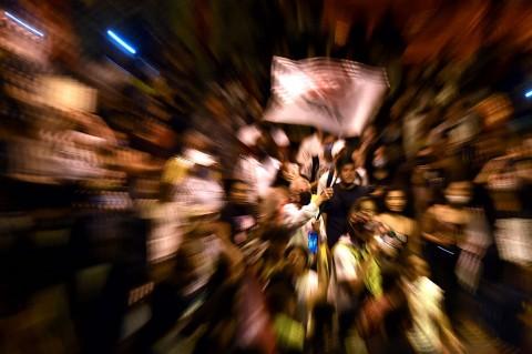 Ribuan Warga Kolombia Gelar Unjuk Rasa Damai