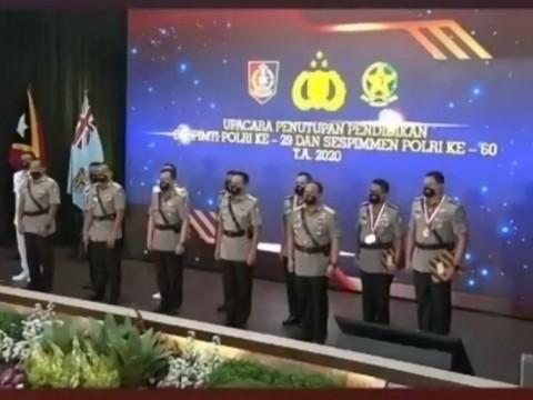 14 Perwira Jadi Lulusan Terbaik Sespimti dan Sespimmen