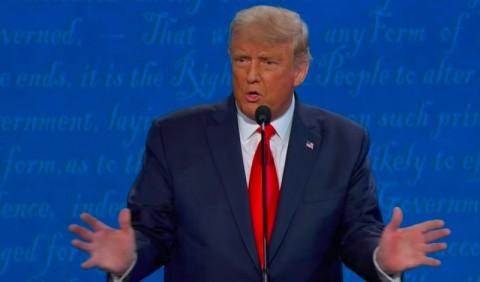 Melalui Debat Trump Sebut Vaksin Covid-19 Sudah Siap