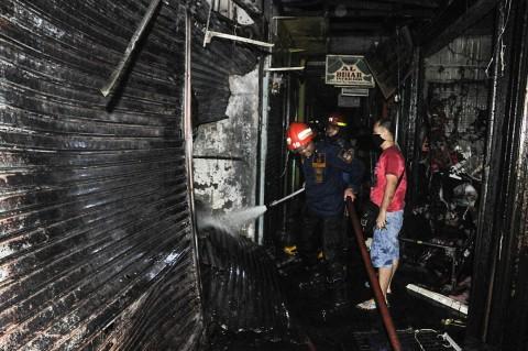 Kebakaran Landa Pasar Tambun Bekasi