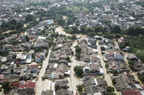 Potret Villa Jatirasa Bekasi Terendam Banjir