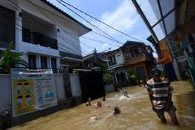 Sembilan RT di Jakarta Masih Tergenang