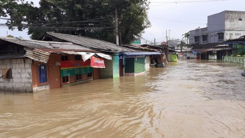 Banjir Rendam Puluhan Rumah di Curug Tangerang
