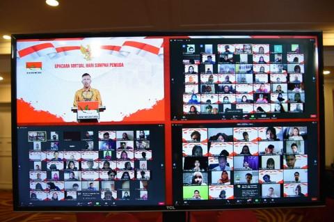 Upacara Virtual Sumpah Pemuda BEM Nusantara Pecahkan Rekor MURI