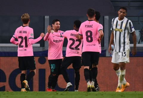 Juventus vs Barcelona: Lionel Messi Pimpin Barcelona Menang di Turin