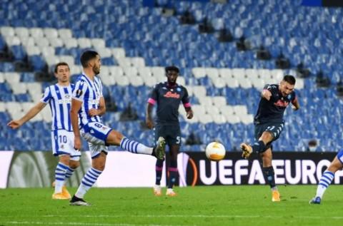 Real Sociedad vs Napoli: Kartu Merah Warnai Kemenangan Partenopei