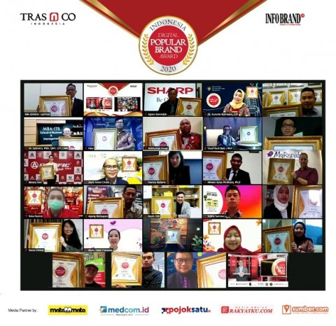 Sukses Berinovasi, Puluhan Brand Raih Indonesia Digital Popular Brand Award