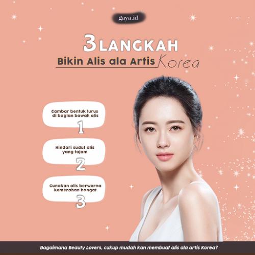 Tiga Langkah Mudah Bikin Alis Ala Artis Korea