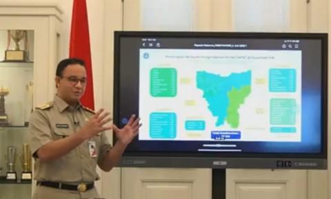 Tak Lagi Zona Merah, Anies Sebut Jakarta Belum Aman Covid-19