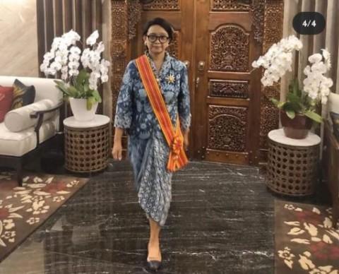 Menlu Retno Terima Tanda Kehormatan Bintang Mahaputera Adipradana