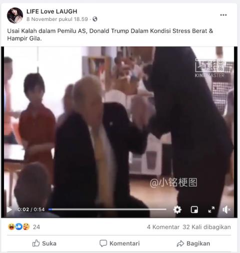 [Cek Fakta] Beredar Video Trump Stres Berat dan Hampir Gila? Ini Faktanya