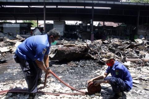 Kebakaran, Pasar Weleri Kendal Jadi Abu