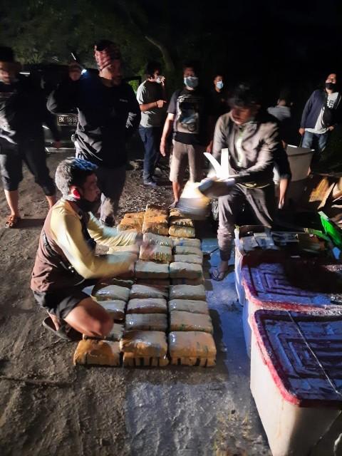 Pengedaran 141 Kilogram Ganja Asal Aceh Digagalkan